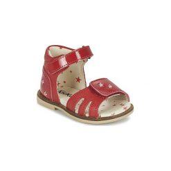 Sandały Dziecko  Kickers  MOONSTAR. Niebieskie sandały dziewczęce marki Kickers, z kauczuku, na sznurówki. Za 209,30 zł.