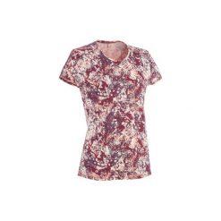 Koszulka turystyczna NH500 damska. Czerwone t-shirty damskie marki QUECHUA, xs, z bawełny. W wyprzedaży za 19,99 zł.