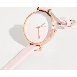 Minimalistyczny zegarek - Różowy. Czerwone zegarki damskie Sinsay. Za 24,99 zł.