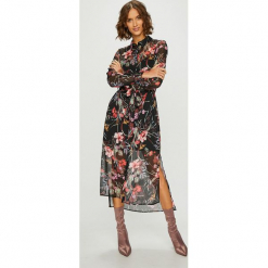Answear - Sukienka. Szare długie sukienki marki ANSWEAR, na co dzień, l, z poliesteru, casualowe, proste. Za 219,90 zł.