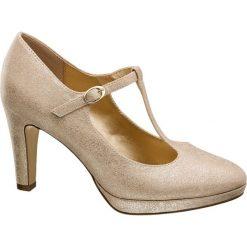 Czółenka: czółenka damskie Graceland złote