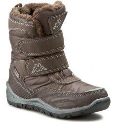 Buty zimowe chłopięce: Śniegowce KAPPA – Tundra Tex 260484K Brown 5050