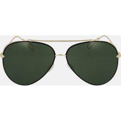 Złote okulary przeciwsłoneczne. Żółte okulary przeciwsłoneczne damskie aviatory Kazar. Za 369,00 zł.