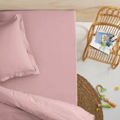 Bielizna dziewczęca: Prześcieradło z gumką do łóżka dziecięcego z bawełny organicznej