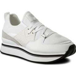 Sneakersy EMPORIO ARMANI - X3X047 XL215 A027 Whi. Białe sneakersy damskie Emporio Armani, z materiału. W wyprzedaży za 479,00 zł.