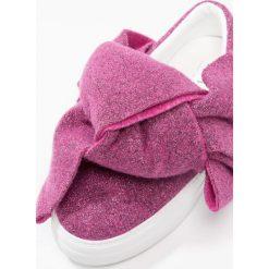 Creepersy damskie: Joshua Sanders LUREX BOW Półbuty wsuwane pink