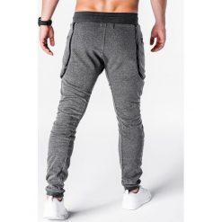 SPODNIE MĘSKIE DRESOWE P426 - GRAFITOWE. Szare joggery męskie Ombre Clothing, z bawełny. Za 35,00 zł.