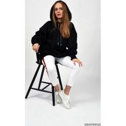 Bluza Hoodie HugMe. Czarne bluzy dziewczęce rozpinane marki La Redoute Collections, z bawełny, klasyczne. Za 235,00 zł.