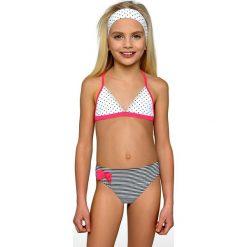 Dziewczęcy kostium kąpielowy Juliet. Czerwone stroje dwuczęściowe dziewczęce marki Astratex, w koronkowe wzory, z wiskozy. Za 74,99 zł.