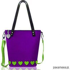 Torebki klasyczne damskie: Fioletowa torba z filcu
