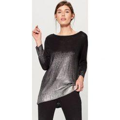 Sweter z efektem cieniowania - Czarny. Czarne swetry klasyczne damskie Mohito, l. Za 119,99 zł.
