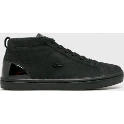 Lacoste - Buty Straightset. Czarne buty sportowe damskie Lacoste, z gumy. Za 529,90 zł.