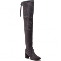 Muszkieterki STUART WEITZMAN - Helena 75 YL53454 Asphalt Suede. Szare buty zimowe damskie Stuart Weitzman, z materiału, przed kolano, na wysokim obcasie, na obcasie. Za 3429,00 zł.