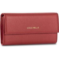 Duży Portfel Damski COCCINELLE - BW5 Metallic Soft E2 BW5 11 46 01 Coquelicot 209. Czarne portfele damskie marki Coccinelle. W wyprzedaży za 419,00 zł.