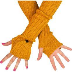 Rękawiczki damskie: Art of Polo Rękawiczki damskie długie - łapki żółte (rk13155)