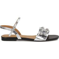 Sandały damskie: Srebrne sandały damskie
