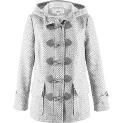 Płaszcze damskie: Płaszcz budrysówka z materiału w optyce wełny bonprix biel wełny – jasnoszary melanż wzorzysty