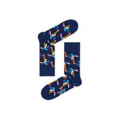 Skarpetki Happy Socks PLM01-6000. Brązowe skarpetki męskie Happy Socks, z bawełny. Za 24,43 zł.