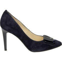Czółenka - ZS7252221 BLU. Czarne buty ślubne damskie Venezia, ze skóry. Za 239,00 zł.