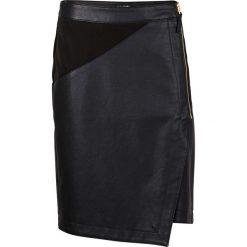 Spódniczka ze sztucznej skóry bonprix czarny. Szare spódniczki asymetryczne marki Miss Sixty, m, z dzianiny, midi. Za 54,99 zł.