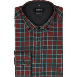 Koszula bexley 2297 długi rękaw custom fit bordo. Szare koszule męskie na spinki marki Recman, na lato, l, w kratkę, button down, z krótkim rękawem. Za 69,99 zł.