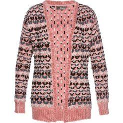 Sweter rozpinany bonprix matowy jasnoróżowy. Czerwone kardigany damskie bonprix. Za 49,99 zł.