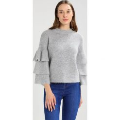 Swetry klasyczne damskie: Endless Rose RUFFLED TIERED JUMPER Sweter heather grey
