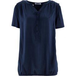 Tunika, krótki rękaw bonprix ciemnoniebieski. Niebieskie tuniki damskie bonprix, z krótkim rękawem. Za 69,99 zł.