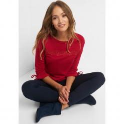 Koszulka z koronkową wstawką. Czerwone t-shirty damskie Orsay, xs, w jednolite wzory, z dzianiny, z falbankami. Za 69,99 zł.