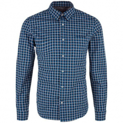 S.Oliver Koszula Męska L Ciemny Niebieski. Szare koszule męskie na spinki marki S.Oliver, l, z bawełny, z włoskim kołnierzykiem, z długim rękawem. Za 139,00 zł.
