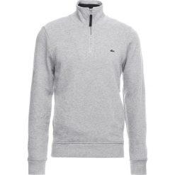 Lacoste Sweter silver chine/navy blue. Szare swetry klasyczne męskie marki Lacoste, z bawełny. Za 459,00 zł.