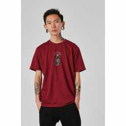 SIMPLE THREAD INK TSHIRT BURGUNDY. Czerwone t-shirty męskie Turbokolor. Za 74,99 zł.
