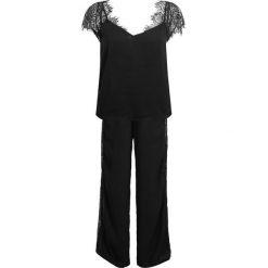 Piżamy damskie: Women Secret DOUBLE TOP LONG Piżama black