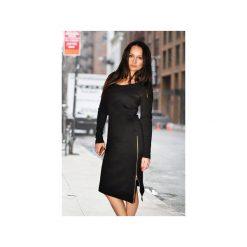 Długie sukienki: Dopasowana sukienka z zamkami