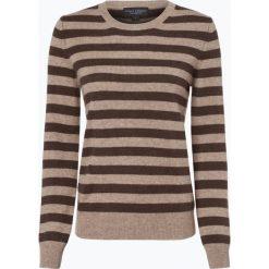 Franco Callegari - Sweter damski z czystego kaszmiru, beżowy. Zielone swetry klasyczne damskie marki Franco Callegari, z napisami. Za 499,95 zł.