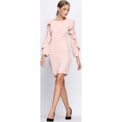 Różowa Sukienka Beaten Path. Czerwone sukienki hiszpanki Born2be, na jesień, l, mini. Za 69,99 zł.