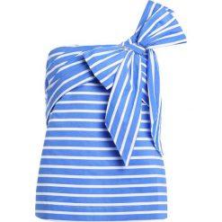 Bluzki asymetryczne: J.CREW SHELDON Bluzka white blue