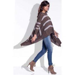 Espresso Sweter Asymetryczny w Paski. Szare paski damskie marki Mohito, l, z asymetrycznym kołnierzem. Za 128,90 zł.