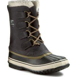 Śniegowce SOREL - 1964 Pac 2 NL1645 Coal 048. Szare buty zimowe damskie Sorel, z gumy, na niskim obcasie. W wyprzedaży za 489,00 zł.