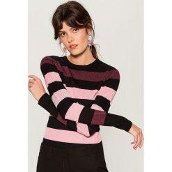 Sweter w pasy - Czarny. Czarne swetry klasyczne damskie Mohito, l. Za 99,99 zł.