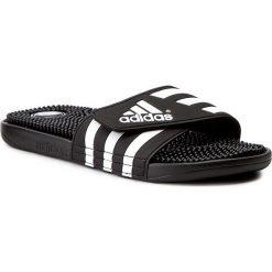 Klapki adidas - adissage 078260 Black/Black/Runwht. Czarne klapki męskie Adidas, z tworzywa sztucznego. Za 129,00 zł.