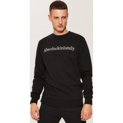 Bluza z napisem - Czarny. Czarne bluzy męskie rozpinane marki House, l, z napisami. Za 59,99 zł.