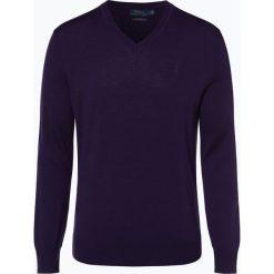 Polo Ralph Lauren - Męski sweter z wełny merino – Slim Fit, lila. Czarne swetry klasyczne męskie marki Polo Ralph Lauren, l, z dzianiny, polo. Za 659,95 zł.