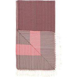 Chusta hammam w kolorze czerwono-różowym - 180 x 95 cm. Czarne chusty damskie marki Hamamtowels, z bawełny. W wyprzedaży za 43,95 zł.