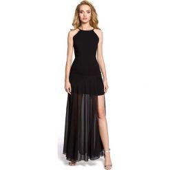 Sukienki: Czarna Wieczorowa Seksowna Maxi Sukienka