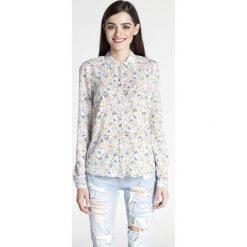 Bielizna damska: Wzorzysta Klasyczna Koszula z Podpinanym Rękawem