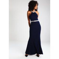 Mascara Sukienka z dżerseju navy. Niebieskie sukienki z falbanami marki Mascara, z dżerseju. W wyprzedaży za 604,50 zł.