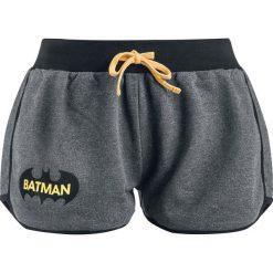 Bermudy damskie: Batman Logo Krótkie spodenki damskie melanż czarny/szary
