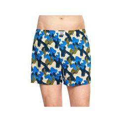 Bielizna męska Happy Socks x Wiz Khalifa - Raw Boxer (WIZ66-6002). Szara bokserki męskie Happy Socks, w kolorowe wzory, z bawełny. Za 99,90 zł.