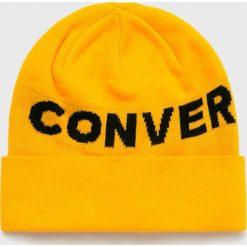 Converse - Czapka. Pomarańczowe czapki zimowe damskie Converse, na zimę, z dzianiny. Za 99,90 zł.